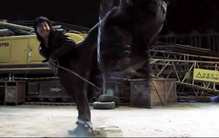 Wu Lin delivers a rib-splitting side kick