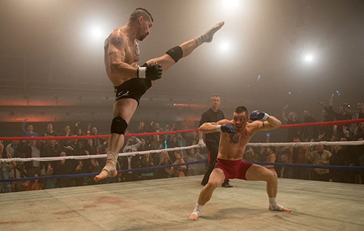 Boyka defies gravity and his opponent!