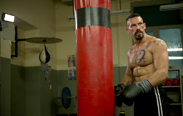 Boyka trains with redoubled intensity