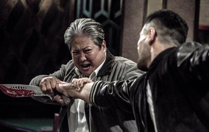 Ding Hu disarms the baddie!
