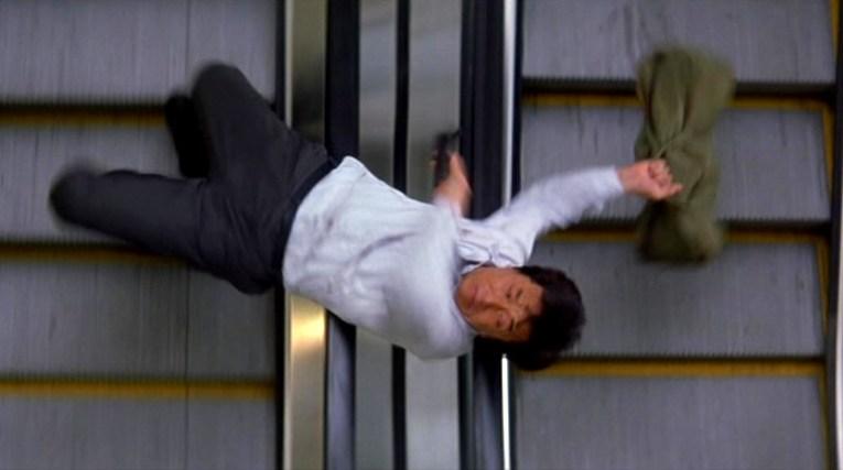 The familiar use of an escalator