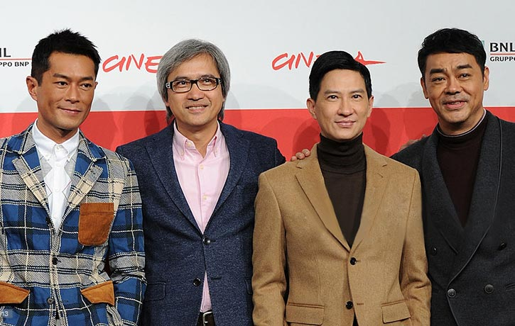 Benny Chan with Louis Koo, Nick Cheung and Sean Lau