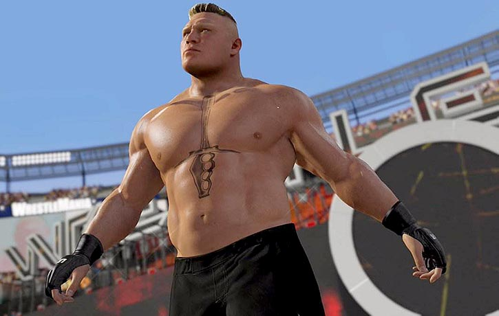 The Beast Brock Lesnar heads to the ring
