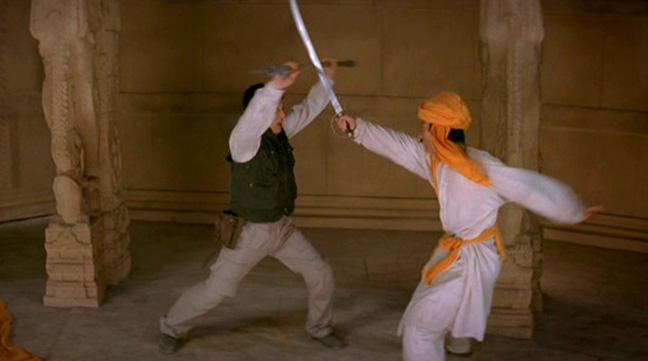 This fight incorporates some quite brilliant choreography