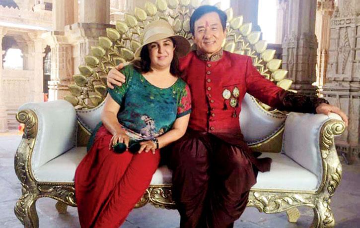 Jackie with Bollywood choreographer Farah Khan
