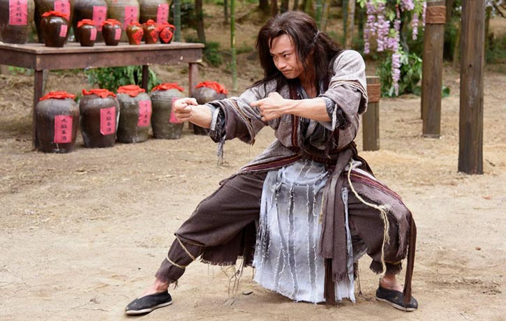 Jun Cao is very convincing when performing the martial arts forms