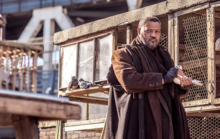 Laurence Fishburne reunites with his co star from The Matrix
