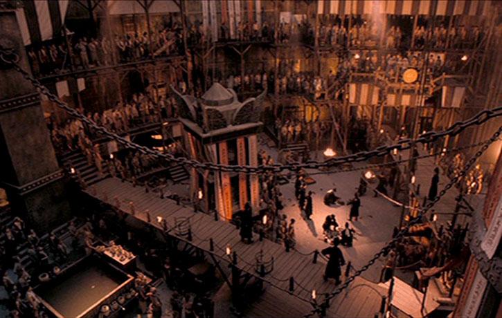 The sets are especially impressive