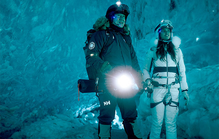 Jack and Ashmita search for treasure in the ice cave