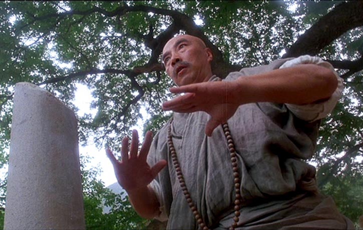 Yu Hai true-to-form plays the Shaolin Head Master