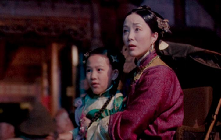Huo's wife and their daughter Jade