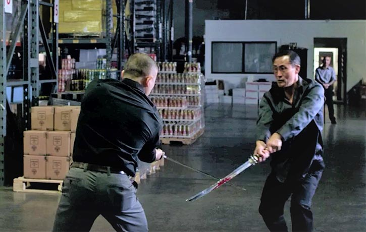 Jack engages in an intense swordfight