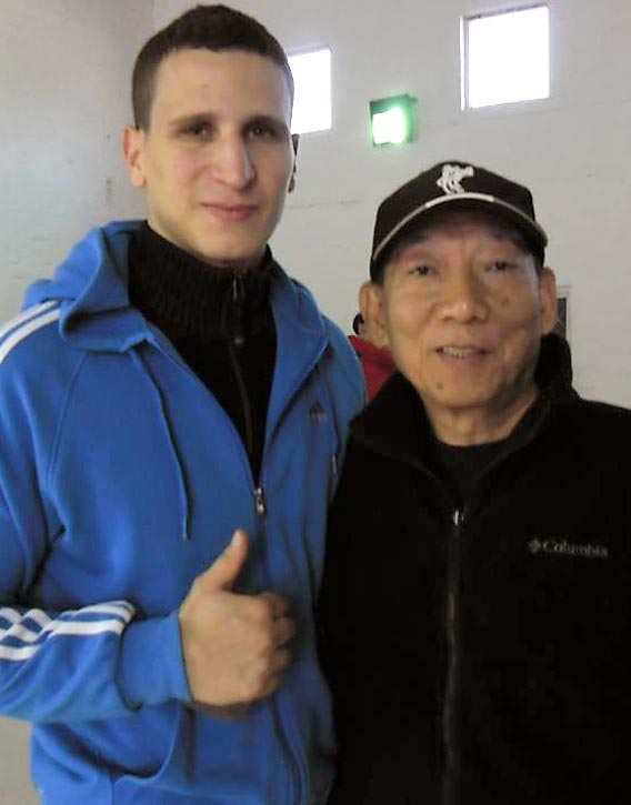 Brahim with the legendary Yuen Woo-ping