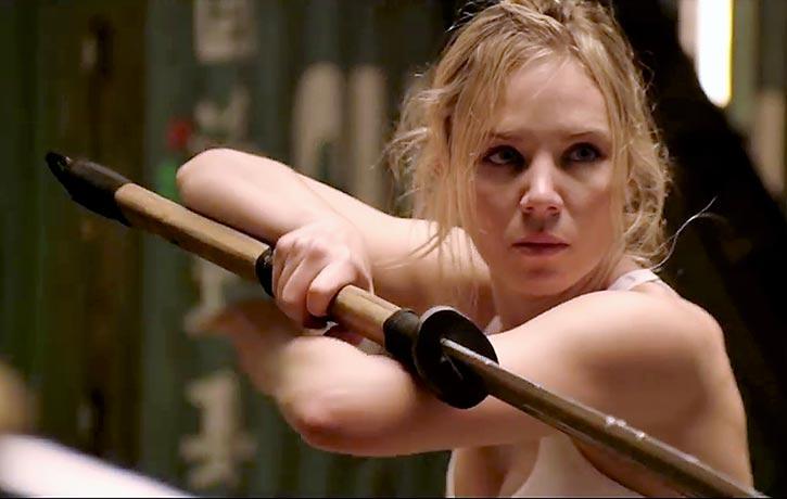 Jane prepares to unleash her sword skills