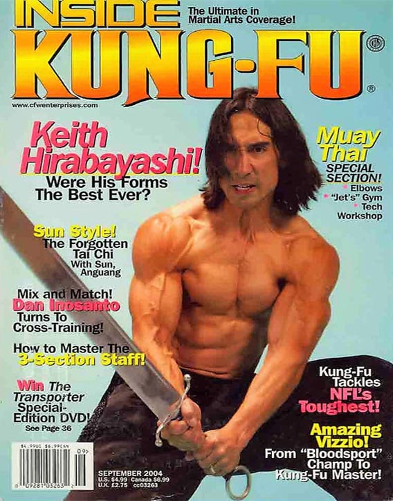 Keith Cooke on the cover of Inside Kung-Fu (Sept 2004)