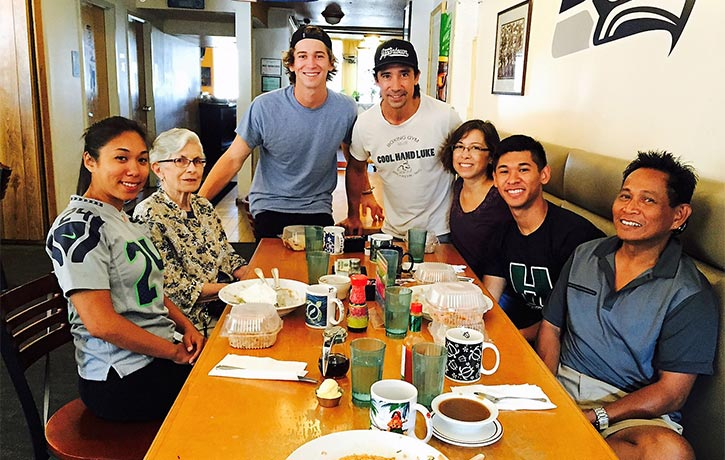 Keith with family & friends
