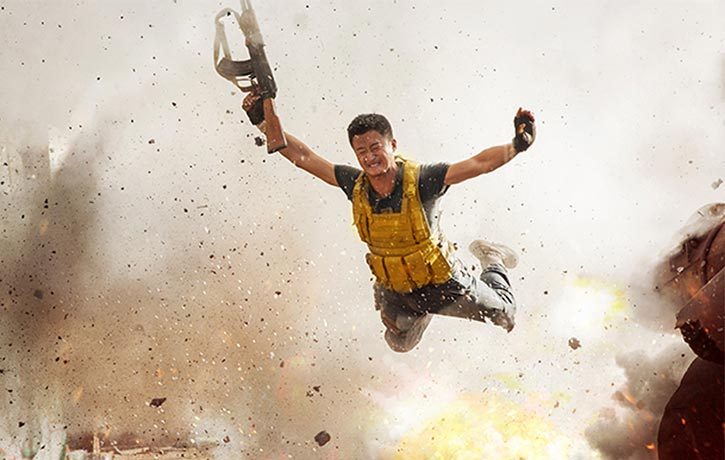 Leng Feng escapes an explosive attack