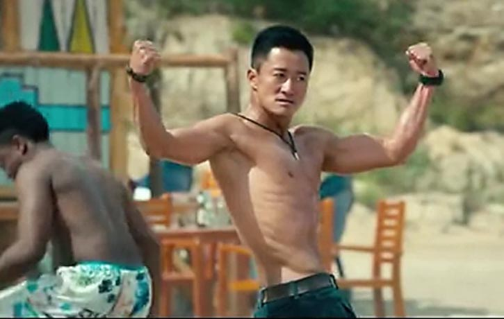 Leng Feng keeps his body in superb condition