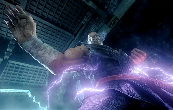 Heihachi shows no mercy to his enemies
