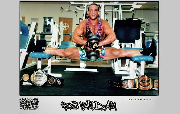Rob Van Dam's flexibility is legendary
