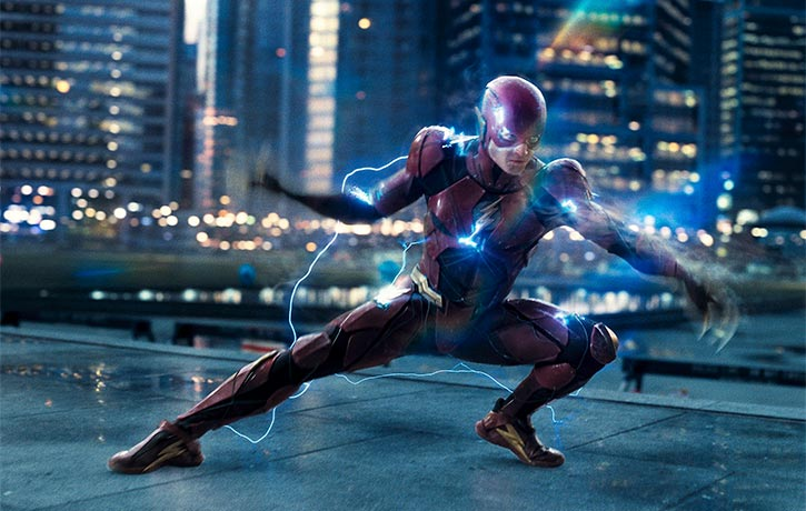 The Flash prepares to zoom into action