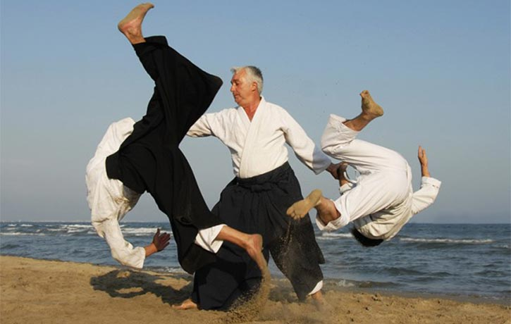 Aikido defense two on one!