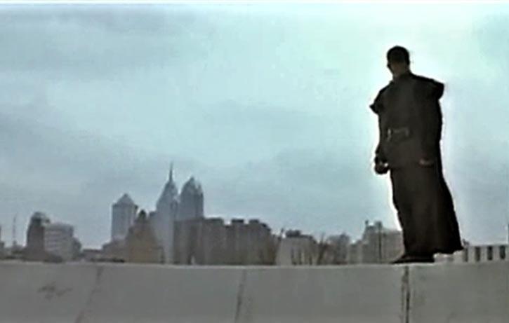 The Black Ninja looks over his city