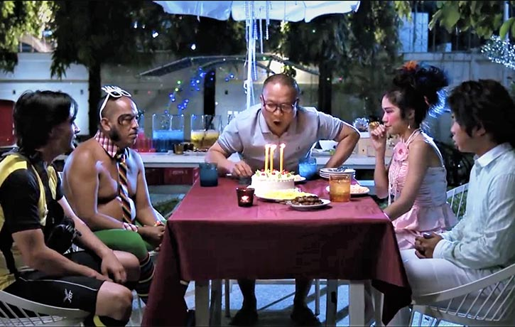 A birthday party for Uncle Wang
