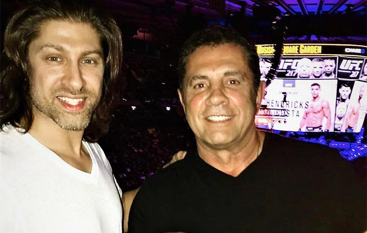 Dimitri and Alain cageside for a UFC match!