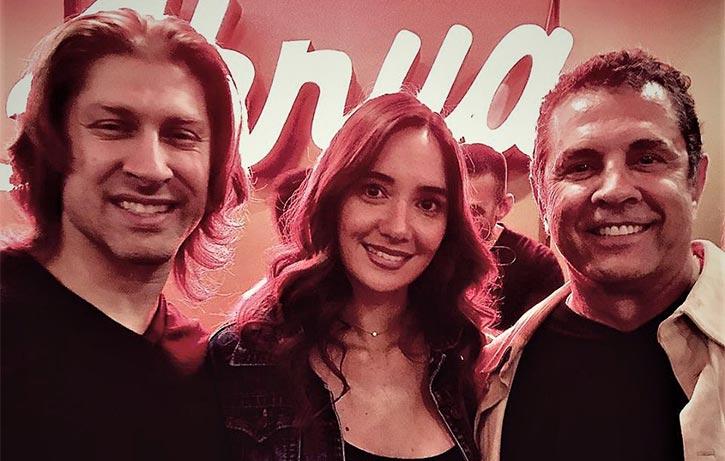Dimitri with Kickboxer stars Alain Moussi & Sara Lane
