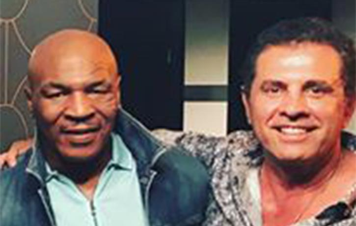 Dimitri with boxing Heavyweight boxing legend Mike Tyson