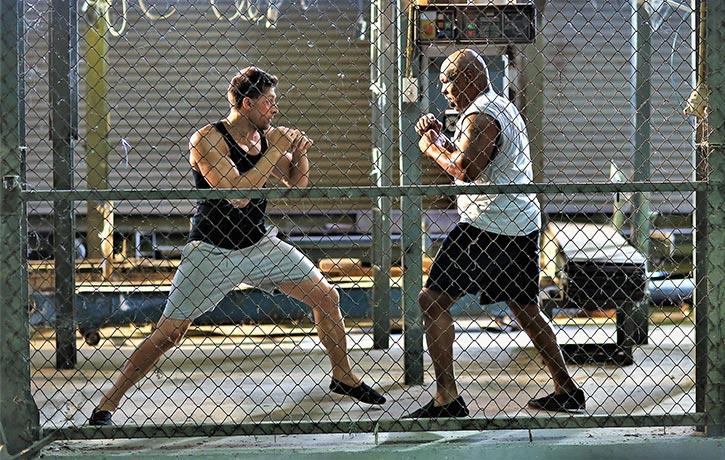 Kurt and Briggs spar