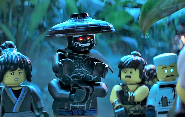 Lord Garmadon offers a polite assesment of his son's injury