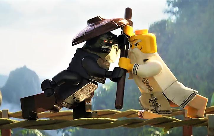 Master Wu and Lord Garmadon go head to head