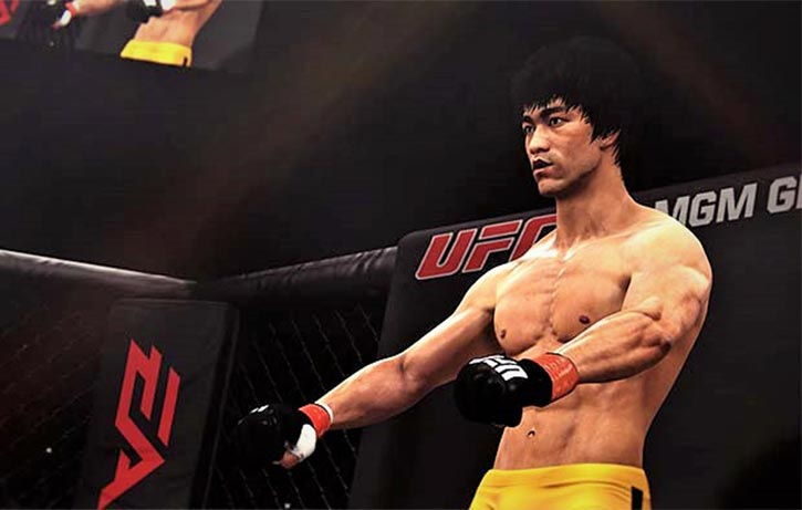 Bruce Lee steps into the Octagon