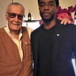 Chadwick Boseman with comic book legend Stan Lee!