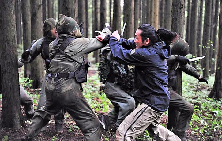 Furious-fu action served up in the forest scene