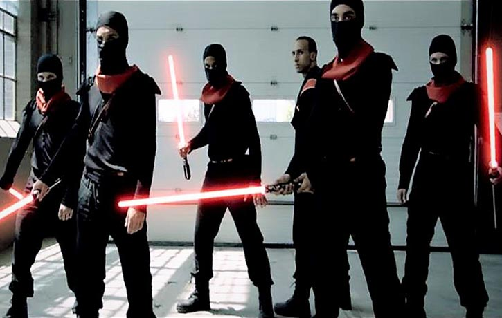 James and Team 2X produced the viral hit Jedi Ninjas!