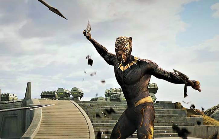Killmonger dons his Golden Jaguar suit!