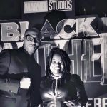 Marrese drops in for the premiere of Black Panther!