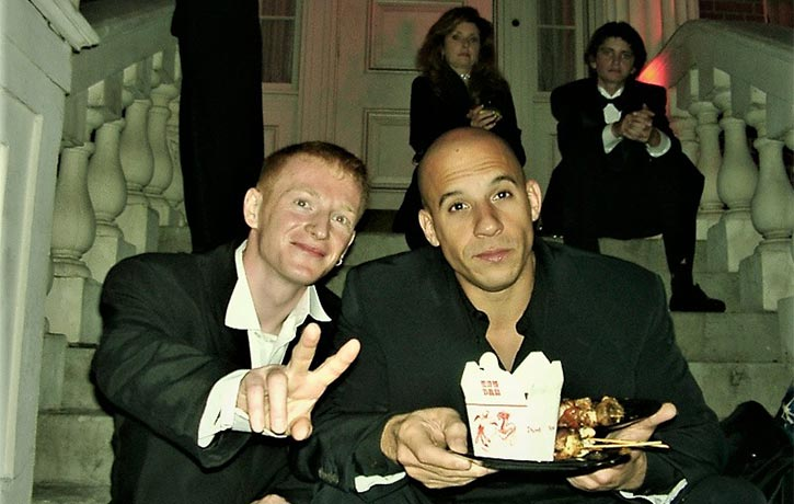 Mike hangs out with Vin Diesel