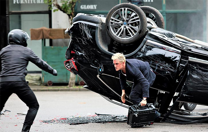 There are some spectacular car crashes and flips