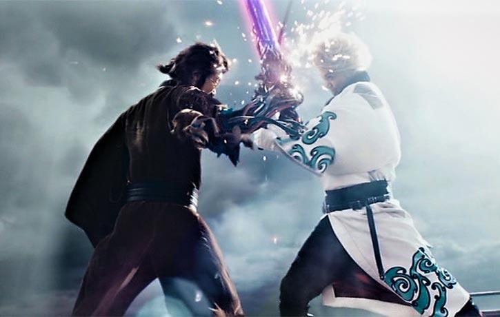 Super-powered swords are no match for a real samurai like Gintoki!