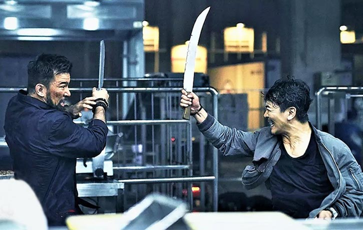 Wu Yue has many martial arts tools in his box