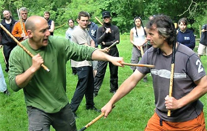 Eskrima instruction with Dan Lewis