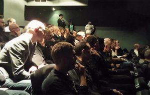 Keen audience at the Q&A