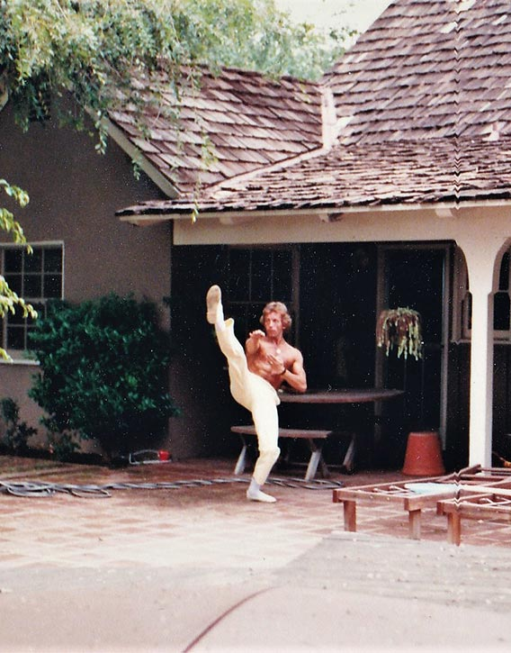 Dave at Bruce Lee's house