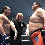 Don Frye faces off with Akebono