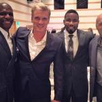 Mike alongside Terry Crews, Dolph Lundgren, and Randy Couture