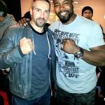 Mike with Undisputed 2 co-star, Scott Adkins